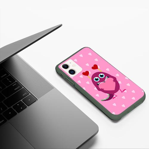 Чехол для iPhone 11 матовый Чудик с сердцем Фото 01