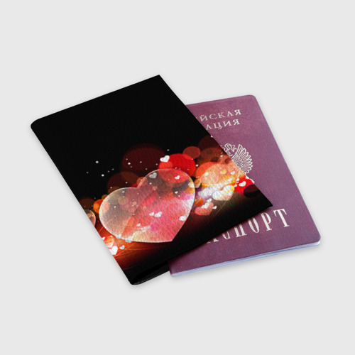 Обложка для паспорта матовая кожа  Фото 03, Сердца