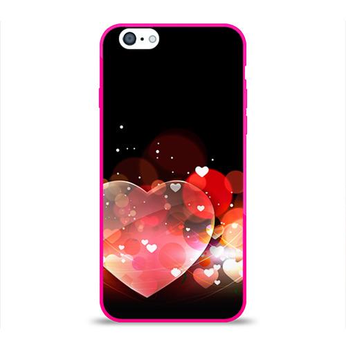 Чехол для Apple iPhone 6 силиконовый глянцевый  Фото 01, Сердца