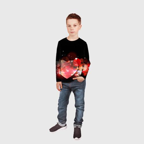 Детский лонгслив 3D  Фото 05, Сердца