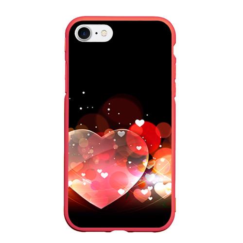Чехол для iPhone 7/8 матовый Сердца Фото 01