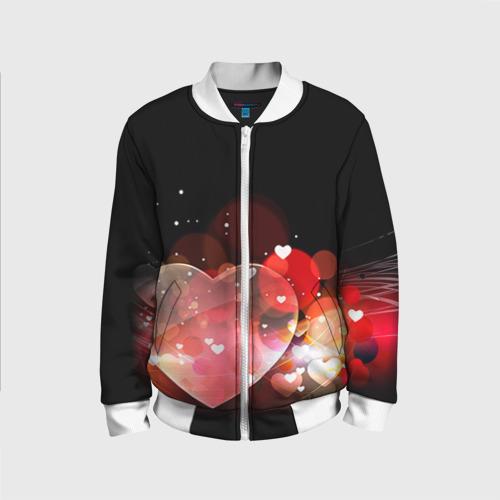 Детский бомбер 3D Сердца