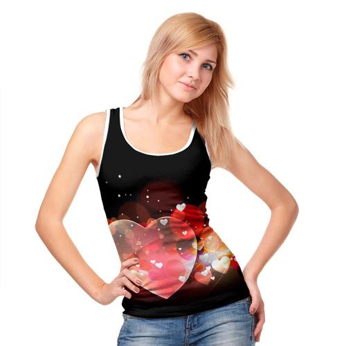 Женская майка 3D  Фото 05, Сердца
