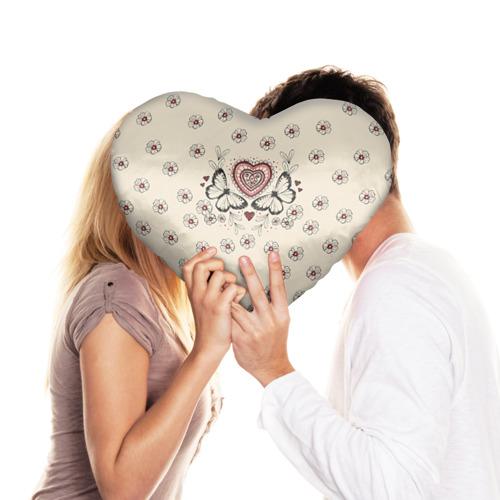 Подушка 3D сердце  Фото 03, Бабочки