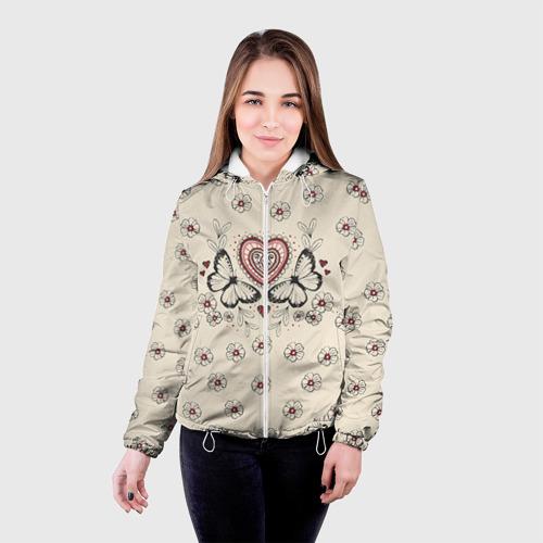 Женская куртка 3D  Фото 03, Бабочки