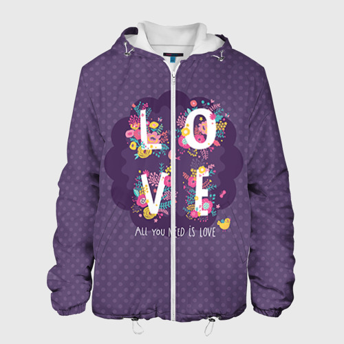 Мужская куртка 3D  Фото 01, Love
