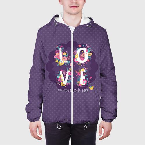 Мужская куртка 3D  Фото 04, Love