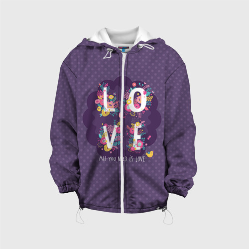 Детская куртка 3D  Фото 01, Love