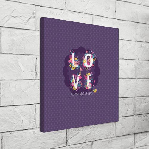Холст квадратный  Фото 03, Love