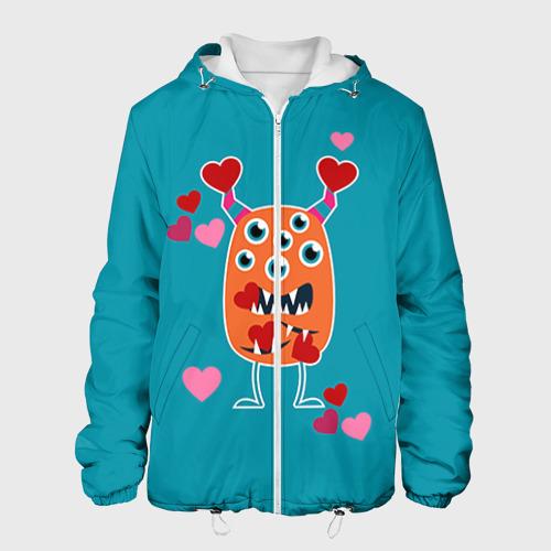 Мужская куртка 3D  Фото 01, Многоглазик с сердечками
