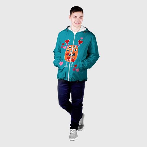 Мужская куртка 3D  Фото 03, Многоглазик с сердечками