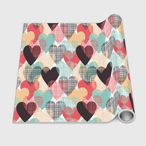 Бумага для упаковки 3D Сердечки Фото 01
