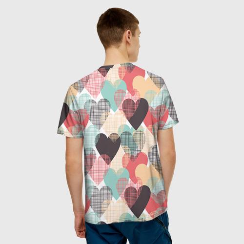 Мужская футболка 3D  Фото 02, Сердечки