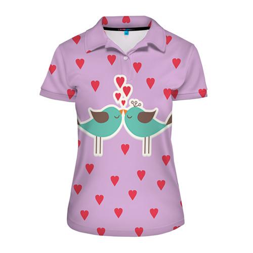 Женская рубашка поло 3D Птички