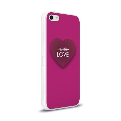 Чехол для Apple iPhone 5/5S силиконовый глянцевый  Фото 02, Любовь