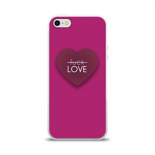 Чехол для Apple iPhone 5/5S силиконовый глянцевый  Фото 01, Любовь