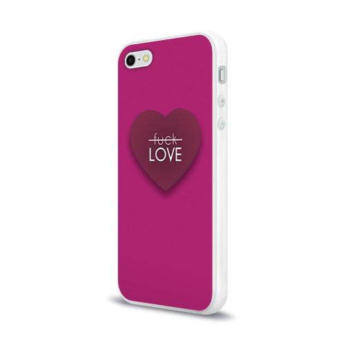 Чехол для Apple iPhone 5/5S силиконовый глянцевый  Фото 03, Любовь