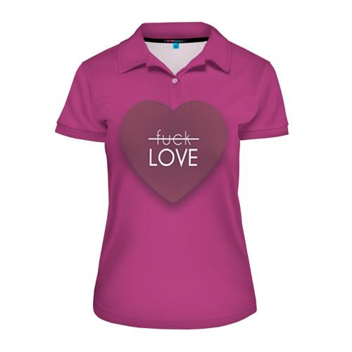Женская рубашка поло 3D Любовь