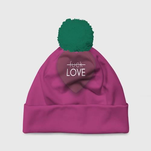 Шапка 3D c помпоном Любовь