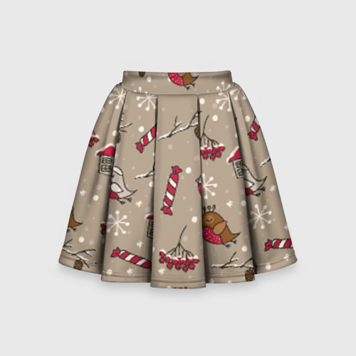 Детская юбка-солнце 3D Зимнее настроение