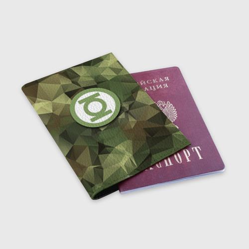 Обложка для паспорта матовая кожа  Фото 03, Зеленый фонарь