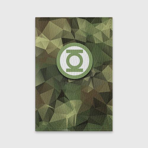 Обложка для паспорта матовая кожа  Фото 01, Зеленый фонарь