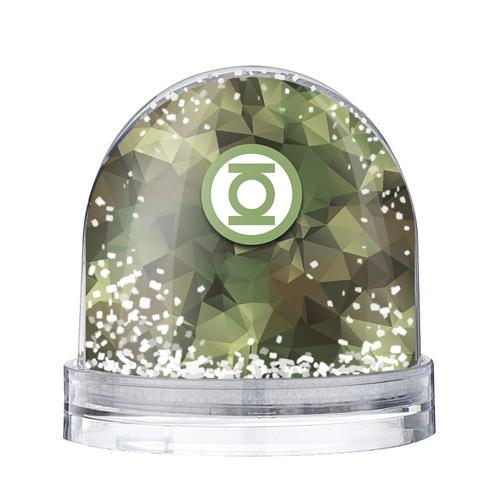 Водяной шар со снегом Зеленый фонарь