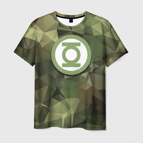 Мужская футболка 3D  Фото 03, Зеленый фонарь