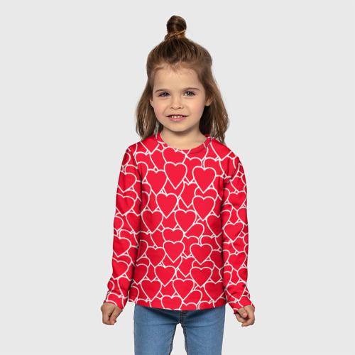 Детский лонгслив 3D Сердца Фото 01