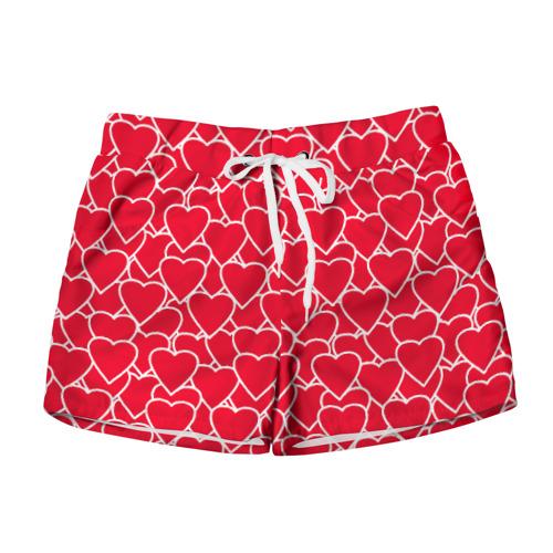 Женские шорты 3D Сердца