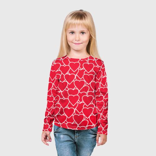 Детский лонгслив 3D  Фото 03, Сердца