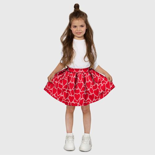 Детская юбка-солнце 3D  Фото 03, Сердца