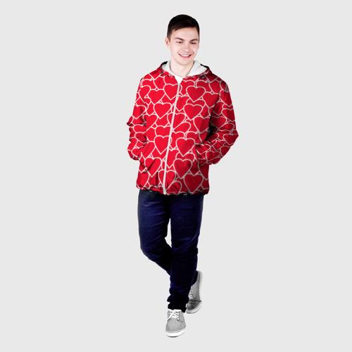 Мужская куртка 3D  Фото 03, Сердца