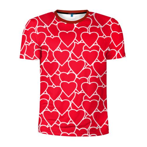 Мужская футболка 3D спортивная Сердца