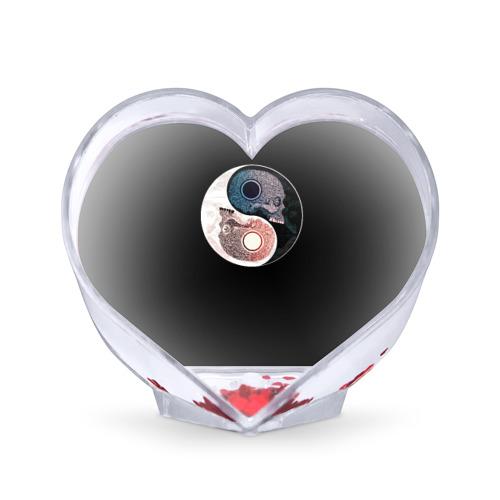 Сувенир Сердце Инь Янь от Всемайки