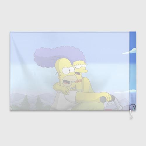 Флаг 3D Гомер и Мардж Фото 01