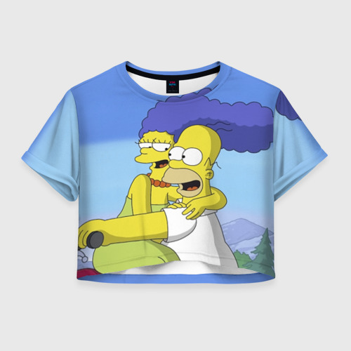 Женская футболка Cropp-top Гомер и Мардж Фото 01
