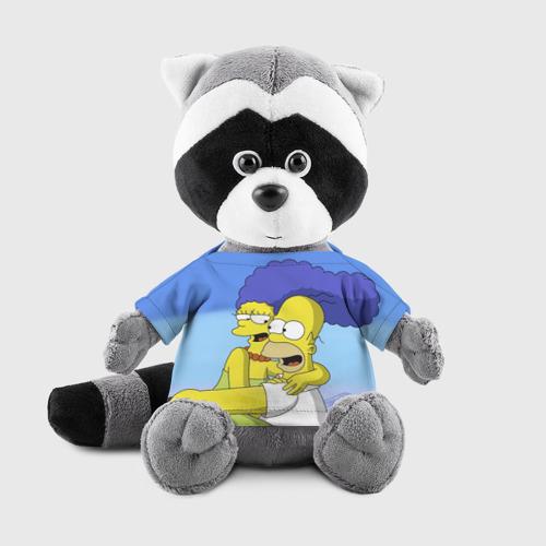 Енотик в футболке 3D Гомер и Мардж Фото 01
