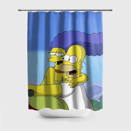 Штора 3D для ванной  Фото 01, Гомер и Мардж