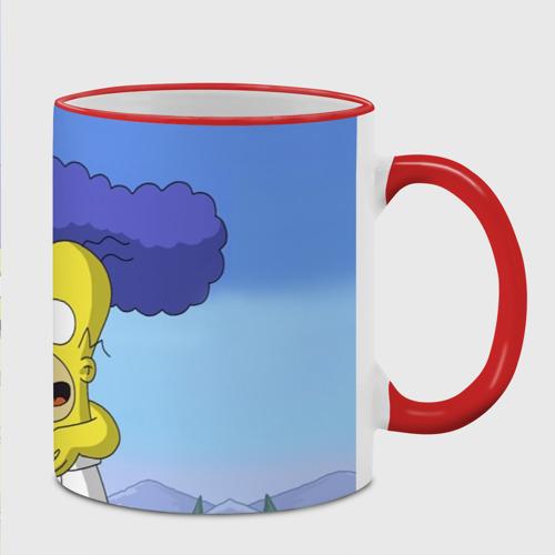 Кружка с полной запечаткой Гомер и Мардж Фото 01