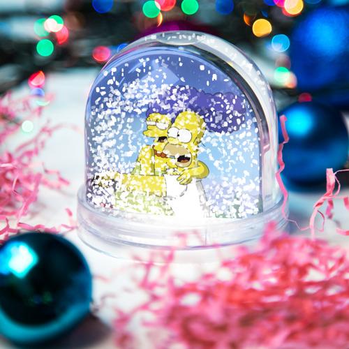 Водяной шар со снегом  Фото 04, Гомер и Мардж