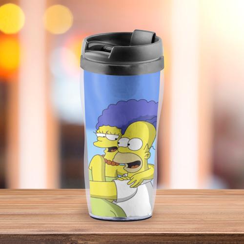 Термокружка-непроливайка Гомер и Мардж Фото 01