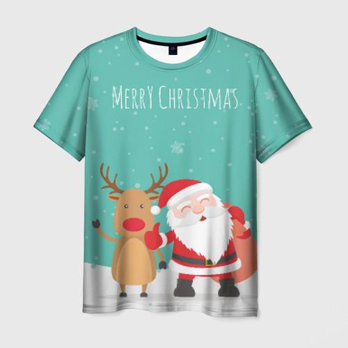Мужская футболка 3D  Фото 01, Merry Christmas