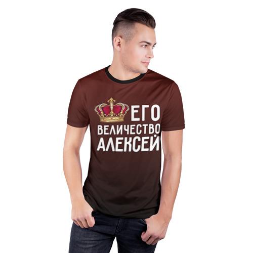 Мужская футболка 3D спортивная  Фото 03, Алексей и корона