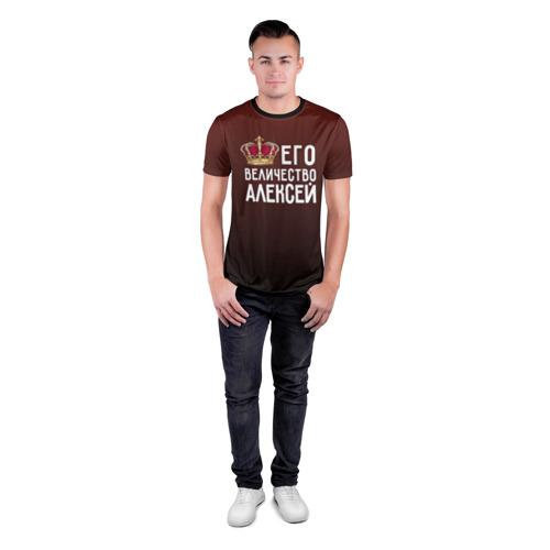 Мужская футболка 3D спортивная  Фото 04, Алексей и корона