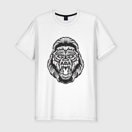 Мужская футболка премиум  Фото 01, Голова гориллы