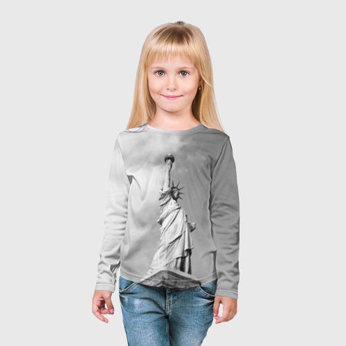 Детский лонгслив 3D  Фото 03, Статуя Свободы