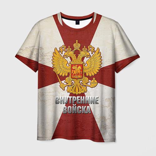 Мужская футболка 3D Внутренние войска