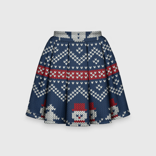 Детская юбка-солнце 3D бабушкин свитер