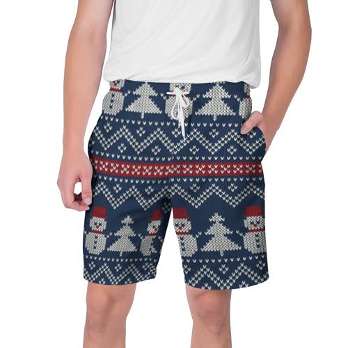 Мужские шорты 3D бабушкин свитер